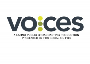 Voces logo with PBS SoCal black